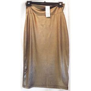 Bebe High Waisted Midi Pencil Skirt Size SP
